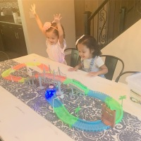 PicassoTiles Glow in the Dark Flexible Race Track